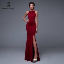บทกวี Songs2019 ใหม่ปี Elegant Charming สีดำด้านข้างเปิด PROM พรรค vestido de Festa Elegant VINTAGE Robe Longue(China)