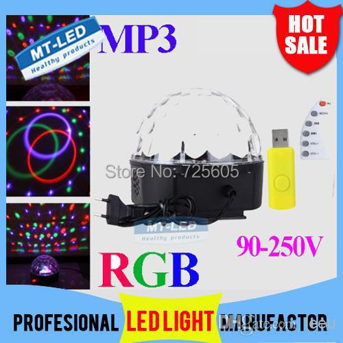 Music crystal LED magic light ball RGB led lamp MP3 USB player U disk remote control disco party dj stage lighting effect - Shenzhen TOPLED Electronics Co ., Ltd . store
