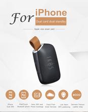 Новые Bluetooth 4.0 Адаптер ПРИЛОЖЕНИЕ Двух Sim-карт Для iPhone Двойной Карточки Двойной Функцией Для Apple iPhone iPad(China (Mainland))
