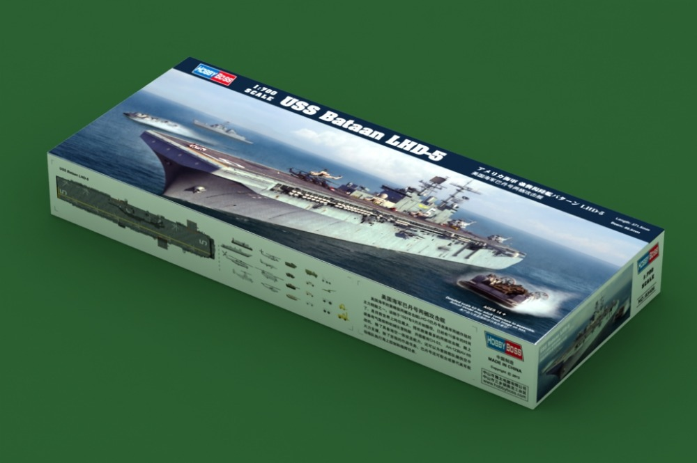 HOBBYBOSS MODEL 1/700 SCALE Assembled military models # 83406 USS Bataan LHD-5 plastic model kit<br><br>Aliexpress