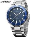 SINOBI Men Diving Wrist Watch Top Luxury Brand 10Bar Waterproof Steel Watchband Male formal Sports Geneva