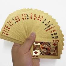Juego de cartas de plástico de PVC de calidad a prueba de agua tendencia 54 Uds. Baraja de póquer herramienta clásica de trucos de magia negra pura(China)