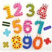 Buy New Wooden 15 Figure Numbers Baby / Children Educational Tool Colorful Fridge Sticker Magnet Hot Sale ma for $1.42 in AliExpress store
