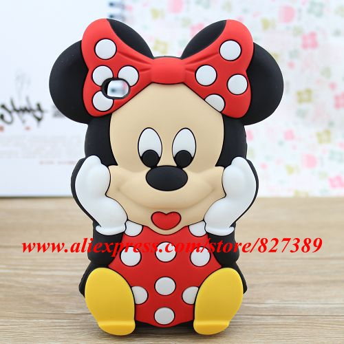 cute polka dot minnie mouse cartoon model silicon material. Black Bedroom Furniture Sets. Home Design Ideas