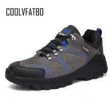 COOLVFATBO Militaire Tactische Laarzen Voor Mannen Lederen Buiten Ronde Neus Sneakers Mens Casual Klimmen Wandelen Schoenen Plus Size 36- 47(China)