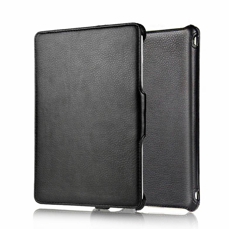 Ultrathin Fully leather case for i pad mini with Microfiber inner protection back cover for i pad mini free shipping(China (Mainland))