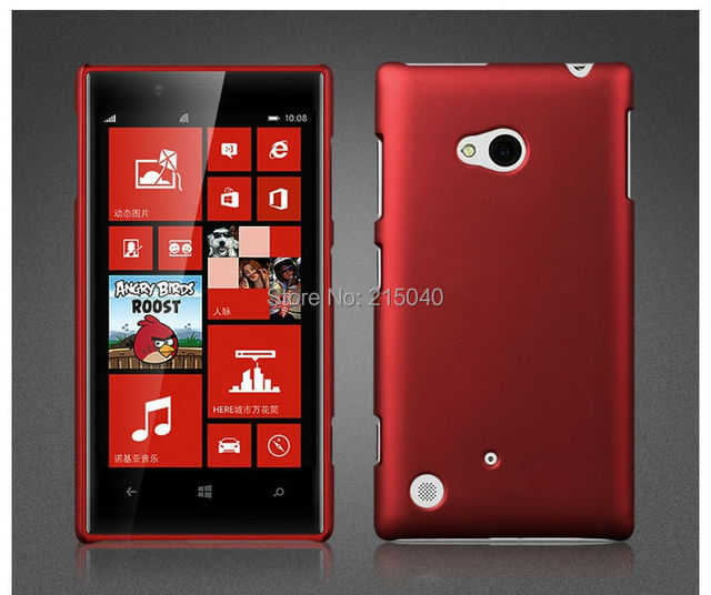 10pcs/lot High Quality Frosted Matte Plastic Hard Rubber Back Cover Case for Nokia Lumia 720, NOK-003