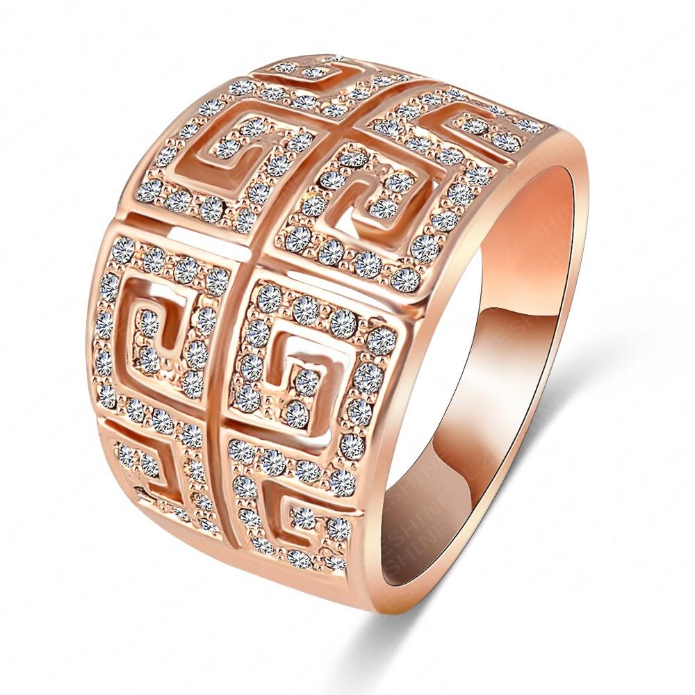 Гаджет  LZESHINE Brand Ring Vintage Retro Letter G Ring 18K Rose Gold Plated SWA Elements Austrian Crystal Ring Free Shipping ITL-RI0004 None Ювелирные изделия и часы