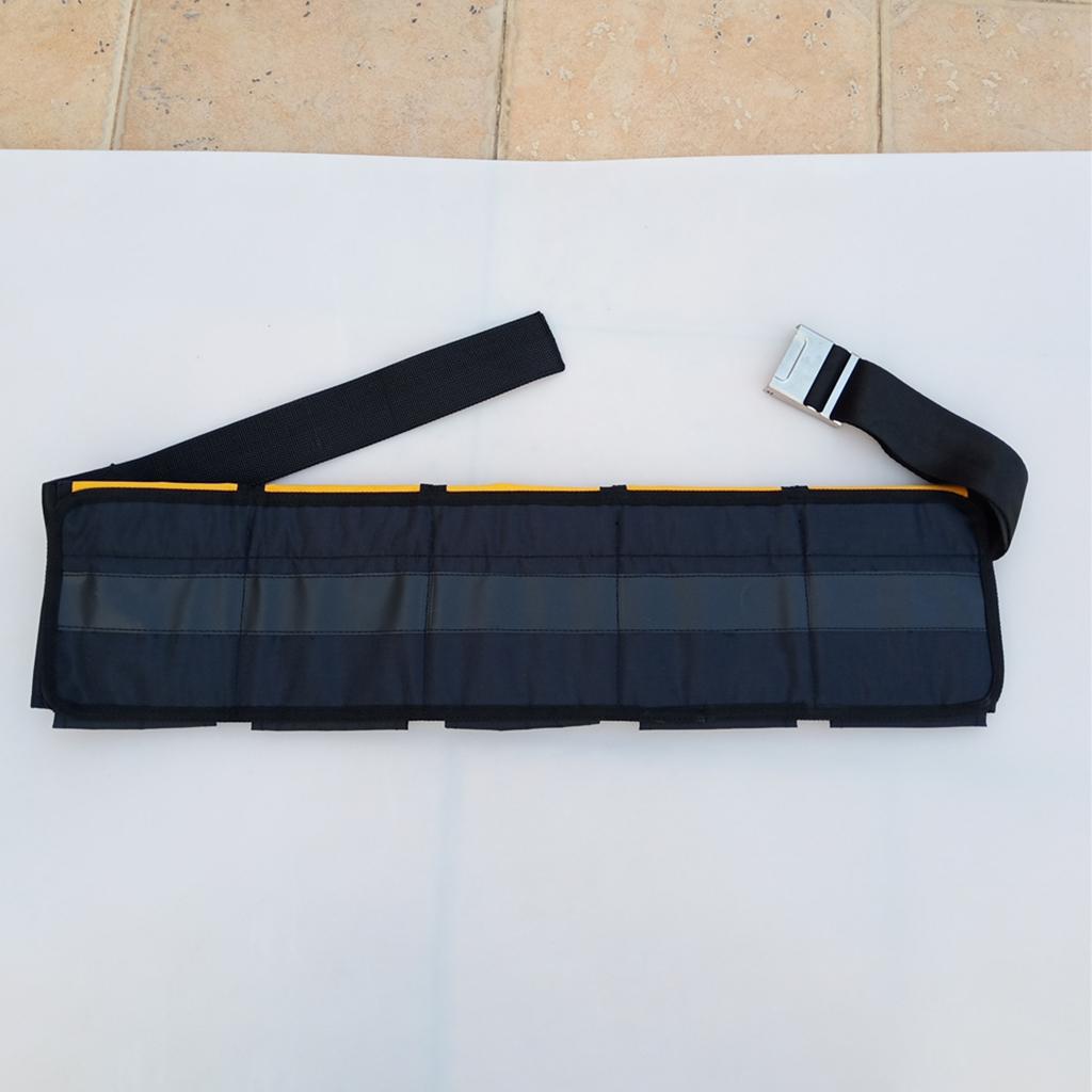 MagiDeal Scuba Diving 3 4 5 Pockets Weight Belt Heavy Duty Waist Strap Gear for Snorkeling Free Diving Spear Fishing