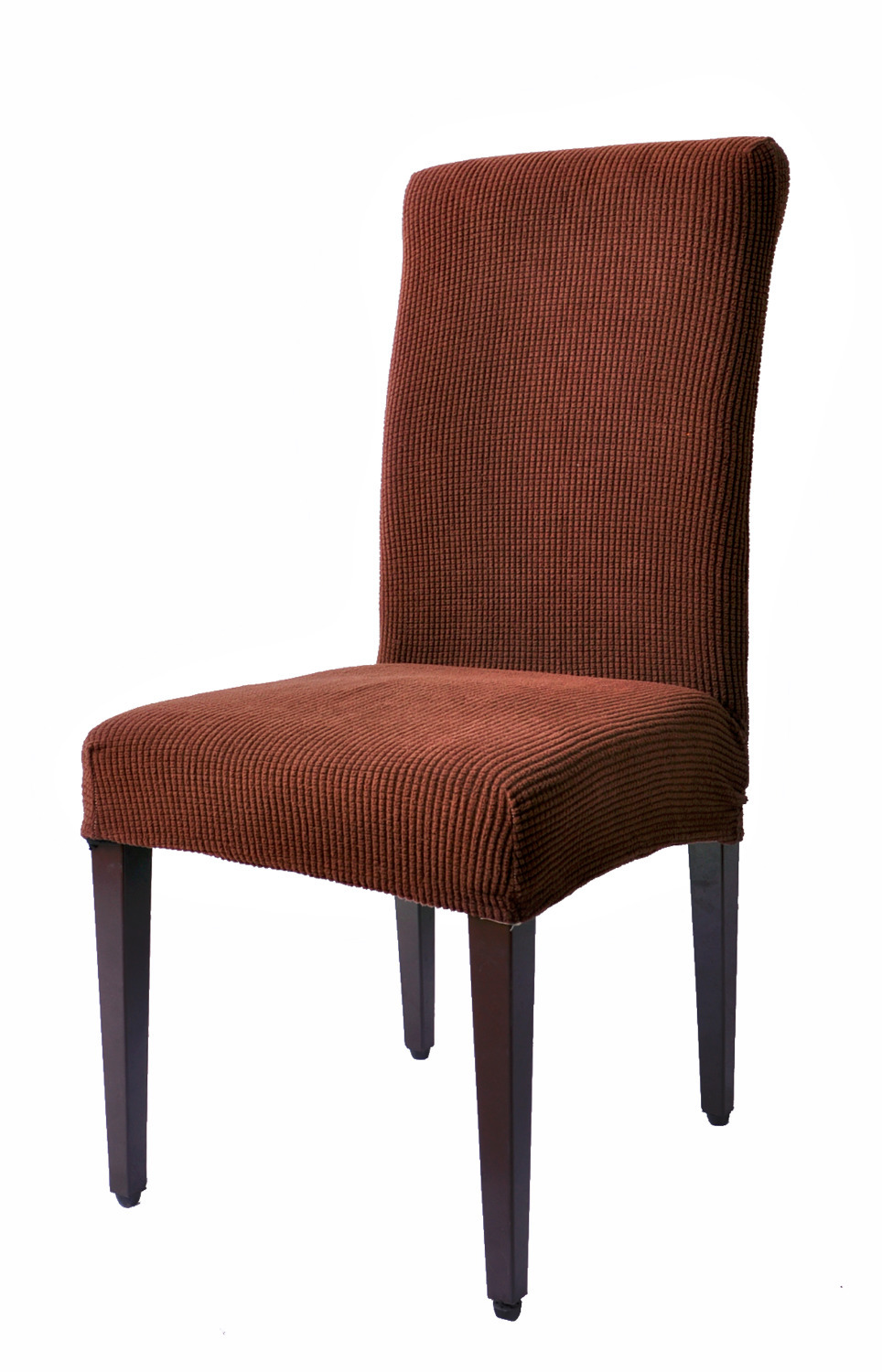Checks 15% Spandex Jacquard Fabric Dyed Dining Room Decorate Chair Covers Anti Mite Washable Chair Slipcoves Chair Cap 4-Piece(China (Mainland))
