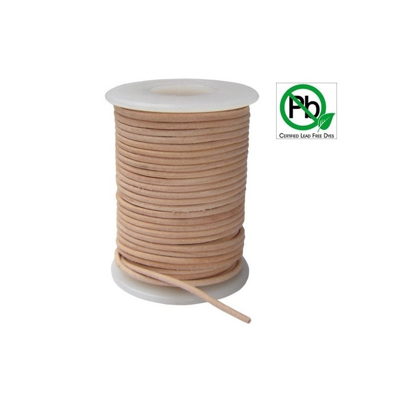 Free shipping Natural 100% COW Round Real Leather Jewelry Cord 2mm Genuine Leather Cord Bracelet & Necklace Cord(China (Mainland))