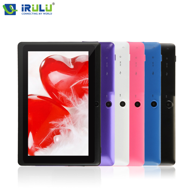 """Irulu eXpro X1 7 """" планшет PC 8 ГБ Android 4.4 планшет четырехъядерных процессоров 1024 * 600 HD двойной кулачок 3 г внешние WIFI планшет ж / подарок Протектор экрана  новые горячие"""