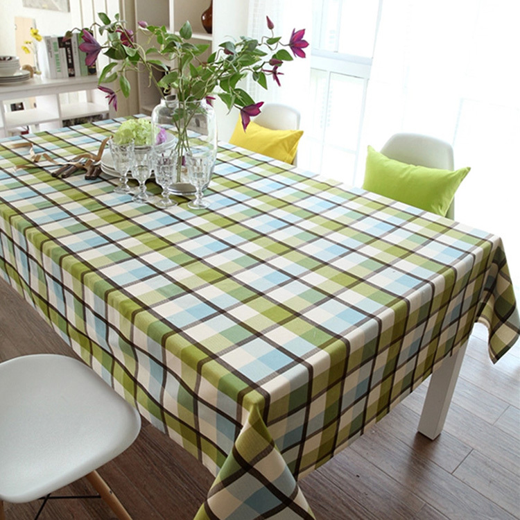 Gelin Garden Cafe Coffee Table Cloth Table Cloth Tablecloths In Green Plaid Cotton Cloth Cover