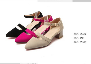 spring new Korean low-heeled female sleeve toe head single shoes hollow shallow mouth of the hollow with the word buckle shoes(China (Mainland))