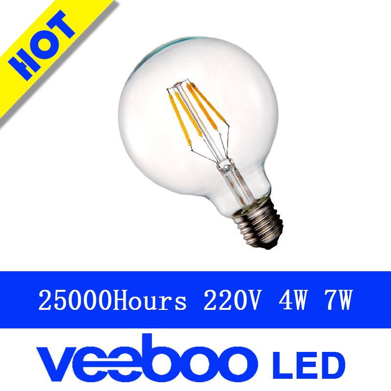 220-240v Vintage Squirrel 40W E27 led G80 Incandescent Edison Globe Light Bulb clear gold milk white glass filament dimmable(China (Mainland))