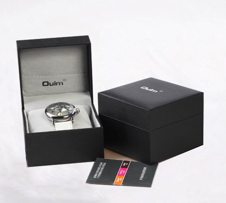 Часы мужские большой циферблат кожаный ремешок механические часы золото серебро спорт мода часы