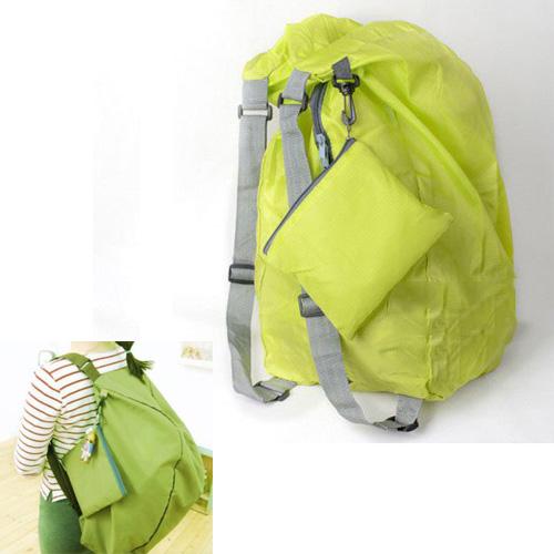 10pcs( ASDS Green Multifunction Convert Foldable Storage Bag Shoulder Bags Backpack(China (Mainland))