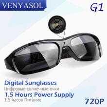 VENYASOL HD 720P Digital Sunglasses Camera black Polarized Hidden Lens for Outdoor Action Sport Video Mini SPY glasses Camera