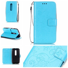 Motorola Moto G3 G4 E2 / X Play Case Cover Butterfly Pattern PU Leather Back Flip Wallet Strap - Easy-Life Show store