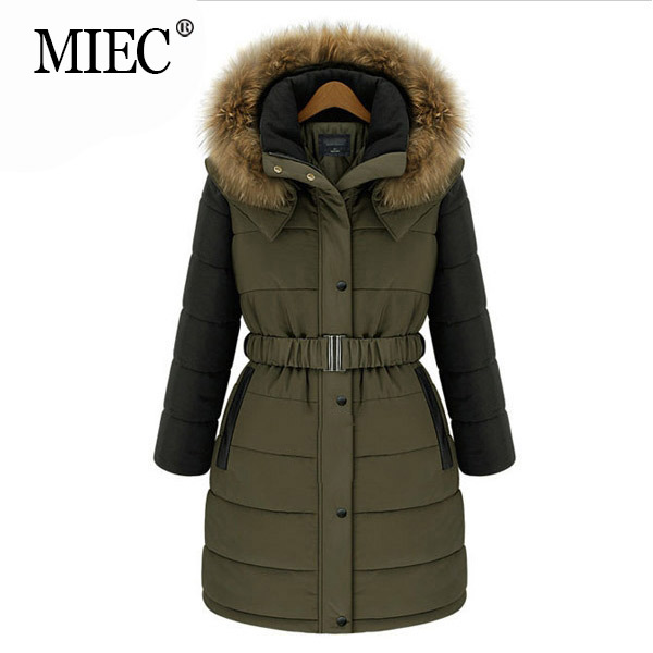 MIEC fur coat women European style 's Cotton coats winter warm long jacket woman fashion 2016 Plus size clothing - YOFEAI GOOD CLOTHES Store store