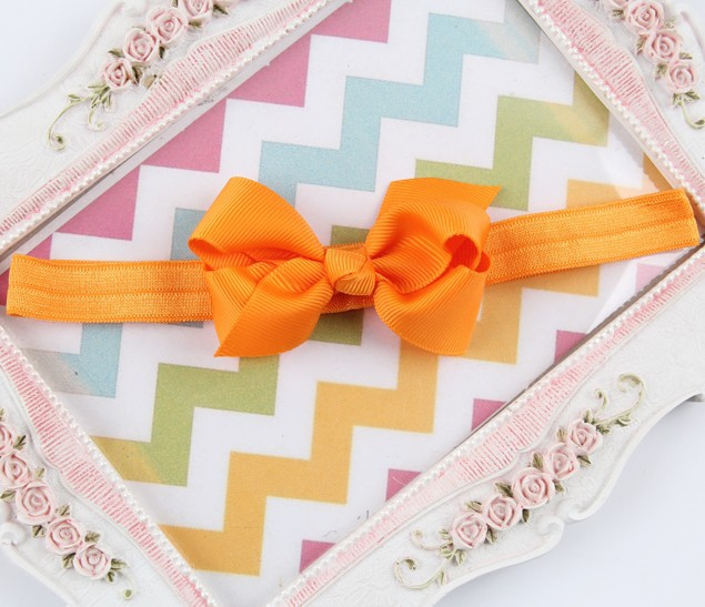 1pc 3inch baby girls ribbon hair flower bows Headbands infant turbant small bowknot headwear kids hair head bands accessories