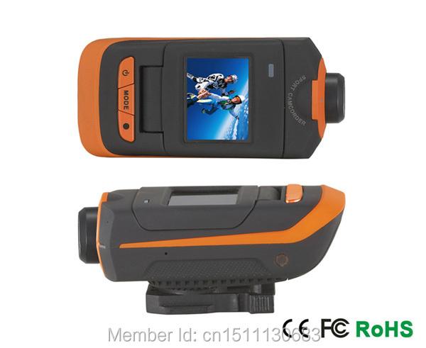 New Full HD 1920x1080P Helmet Waterproof Camera HD Outdoor Sports Action Camera 1.5 Inch screen Digital Cameras Free shipping(China (Mainland))