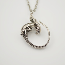 Movie Jewelry Retro Alien Xenomorph Pendant Necklace