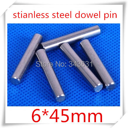 20pcs/lot  6*45mm stainless steel dowel pins/ 6mm cylindrical pin<br><br>Aliexpress