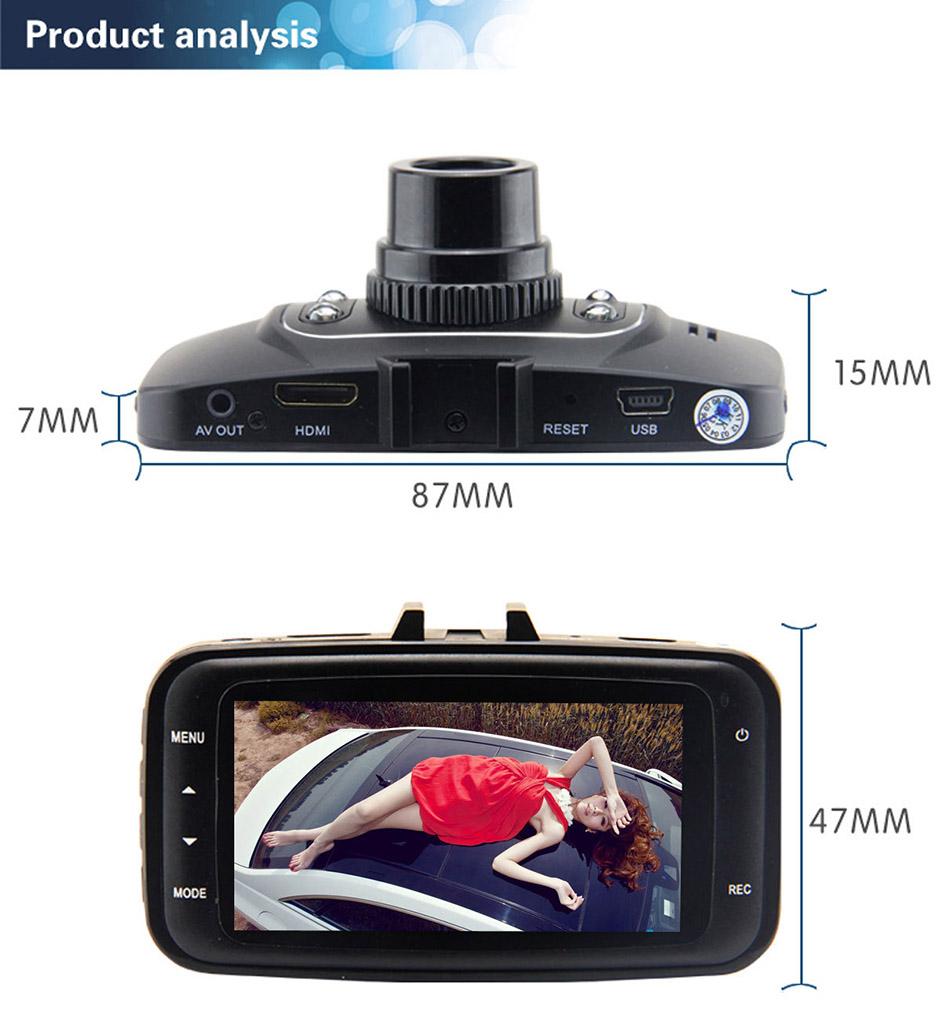 Купить Gotomato GS8000L Full HD 1920x1080 P GS8000 Рекордер Камеры Автомобиля 2.7 Дюймов TFT LCD G-сенсор HDMI ИК Ночного Видения Автомобильный ВИДЕОРЕГИСТРАТОР