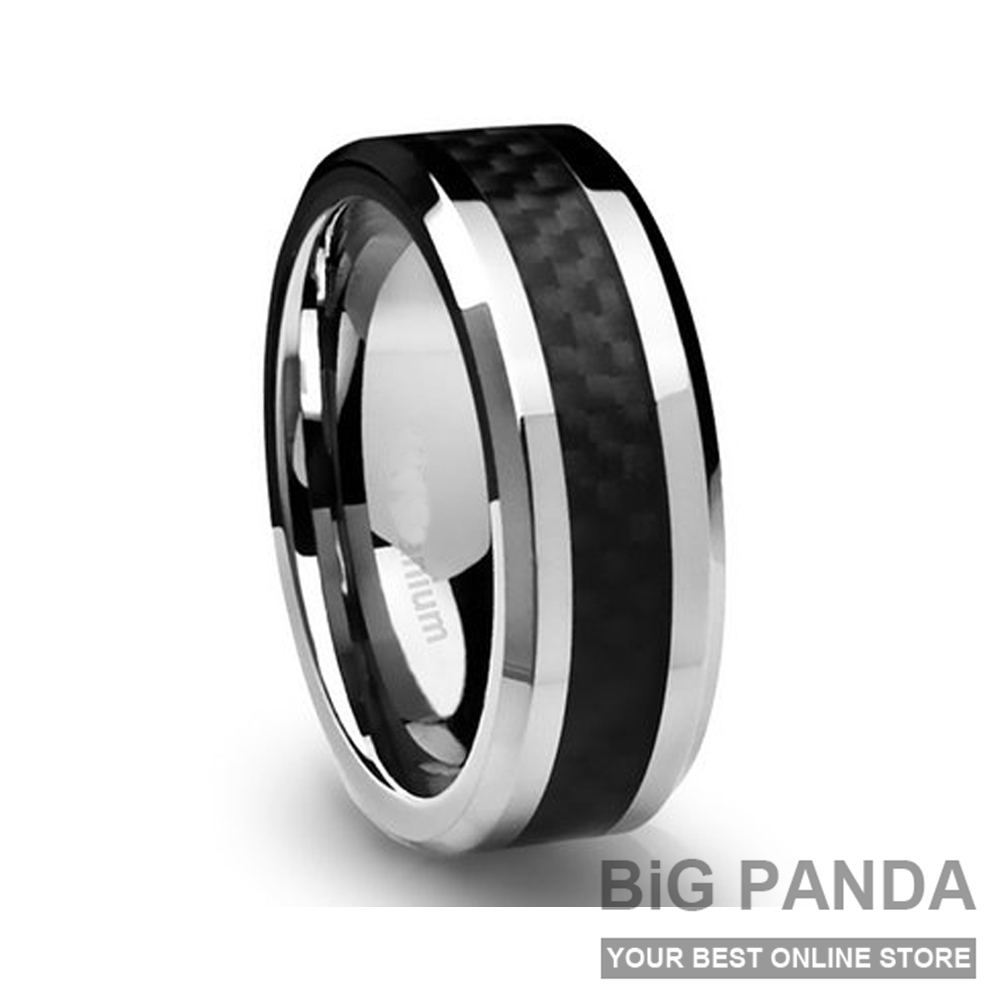 Wedding Band Stainless Steel 8mm: 8MM Men's Titanium Ring Wedding Rings Band 316L Stainless