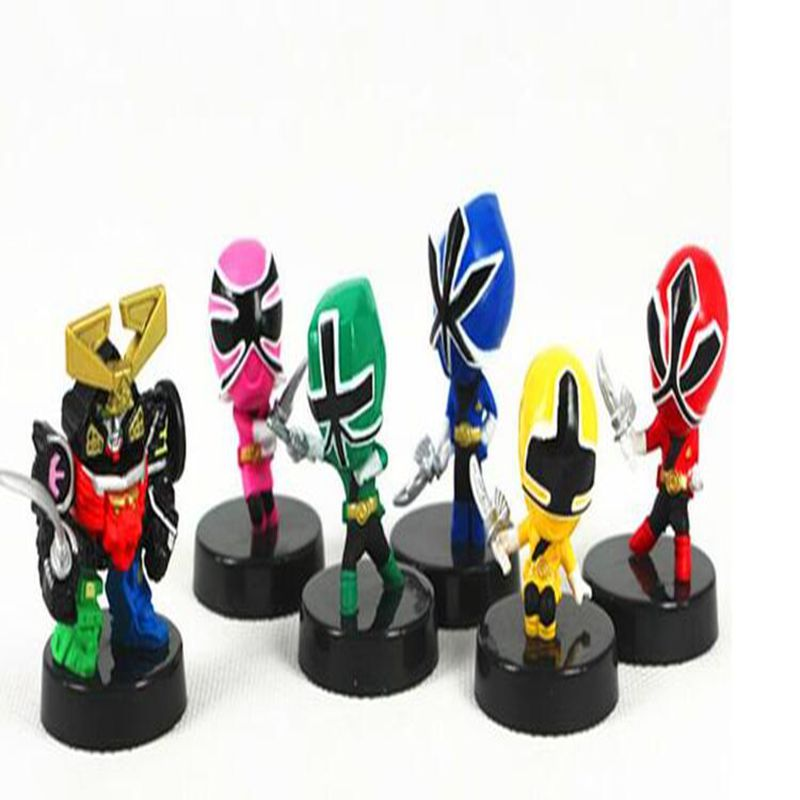 6 pcs/lot Power Toy Figures team Samurai doll masked superman Knight Action Figure phlogistic Model doll kids toys(China (Mainland))