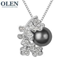 NEW ZA pearl pendant necklace wholesale high quality statement necklace with crystal rhinestone necklace for women(China (Mainland))