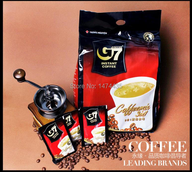 2015 Top Quality three in one 50packs Vietnam Black Instant Coffee G7 Coffee Slimming Delicious Coffee