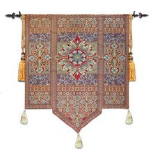 Road to Moroccan JACQUARD WOVEN WALL HANGING TAPESTRY+TASSELS Huge ART DECOR 135cm x 165cm(China (Mainland))