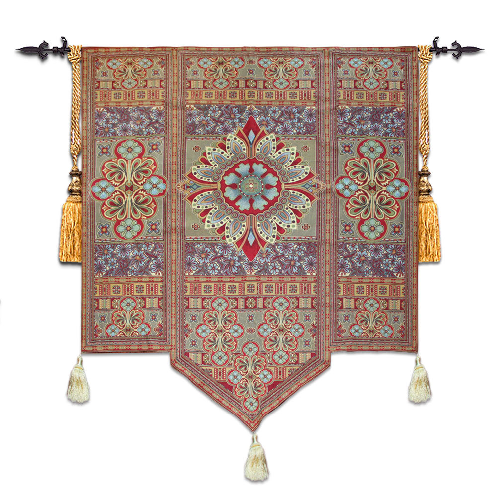 Decorative Wall Hanging Tapestry : Road to moroccan jacquard woven wall hanging tapestry