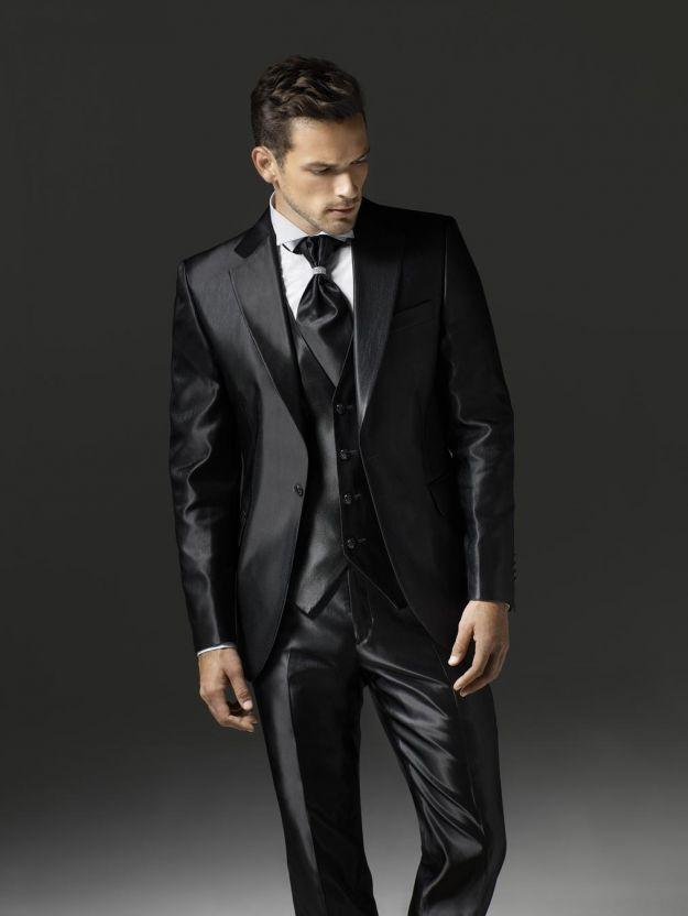 Compare Prices on Men Shiny Black Suit- Online Shopping/Buy Low