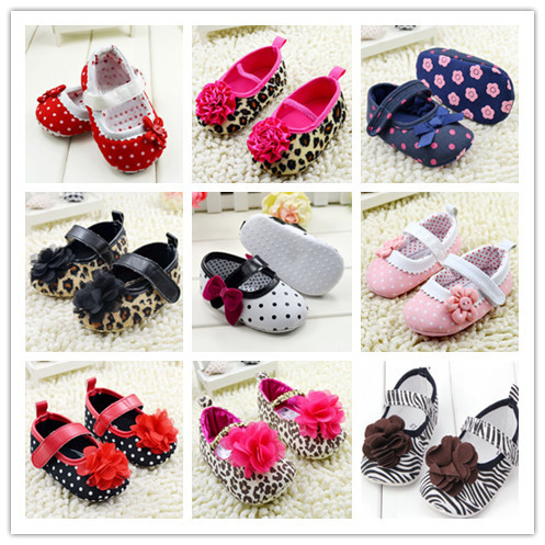 Гаджет  Infant Girls Shoes Soft Bottom Shoes Polka Dot Flower Toddler Shoes Baby Shoes NEW SM67 None Детские товары