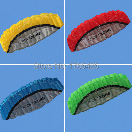 NEW Hot High quality 2.5m Dual Line Stunt Parafoil Kite Power soft kite various colors choose wei fang kite flying free shipping(China (Mainland))