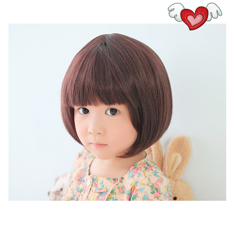 realistic female child wigs kids heat resistant cheap synthetic wigs children baby girl wig cosplay princess children wig hair(China (Mainland))
