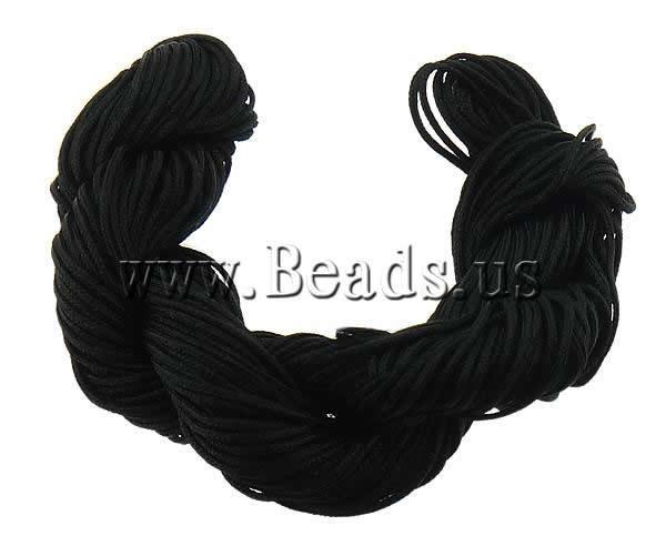 Free shipping!!!Nylon Cord,Colorful Jewelry, black, 1mm, 300Yards/Bag, Sold By Bag