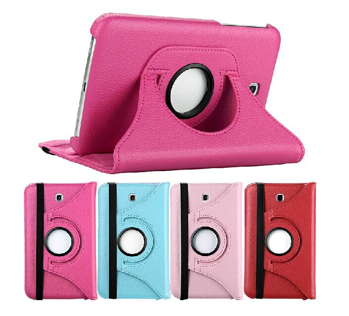 Luxury 360 Rotating PU Leather 2Folds Cover Case Samsung Galaxy Tab 3 7.0 T210 T211 P3200 P3210 7 inch Stand Skin Tablet PC - Shenzhen Tonghua Weiye Technology Co.,Ltd store