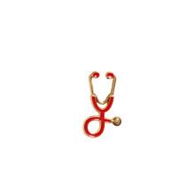 Infermiera Spilli Medico spille per le donne di Modo Variopinto del Metallo Stetoscopio Dello Smalto Dei Monili Degli Uomini di Giubbotti Distintivi e Simboli Accessori hijab Spille(China)