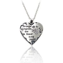 """Lover """"no longer be my side but forever in my heart"""" Pink White Silver black Crystal Cats Dogs Paws Claw Print & Heart Necklace(China)"""