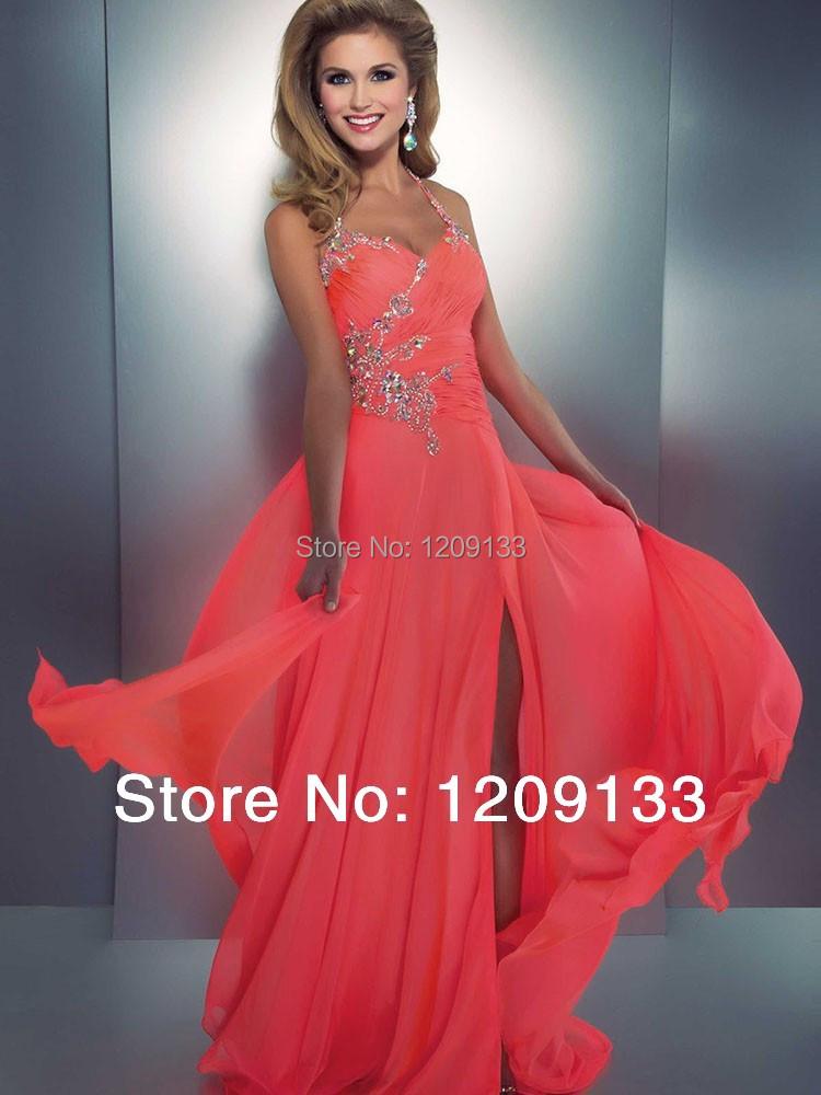 Сексуальный бретелька вышивка бисером вечернее платье высокая разрез сексуальный с низким вырезом на спине пром платья vestidos партии дизайнеры