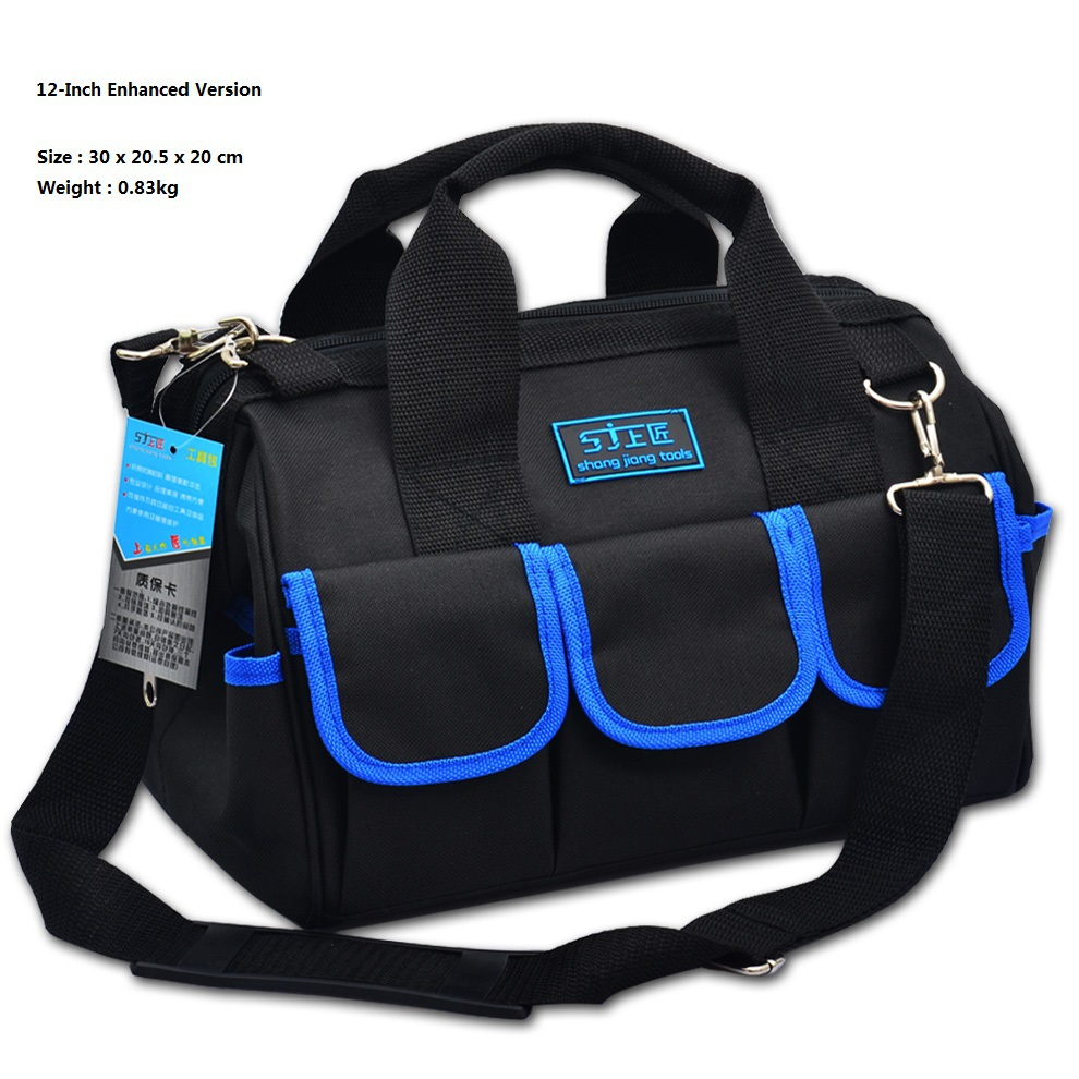12-inch Enhanced Version Tool Bag 600D Oxford Cloth Single Shoulder Electrical Package Multifunctional Tool Kit/Bag(China (Mainland))