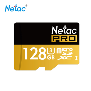 Netac Original P500 Micro SD Card UHS-I SDXC U3 128GB 64GB TF Card SDHC U1 32GB 16GB Flash Memory Cards faster than Class10