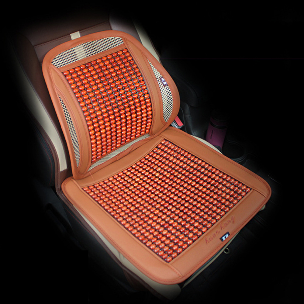 New 1PC Natural Wooden Bead Seat Cushion Car Home Chair Cover Tan Beaded Cool Summer Free Shipping(China (Mainland))