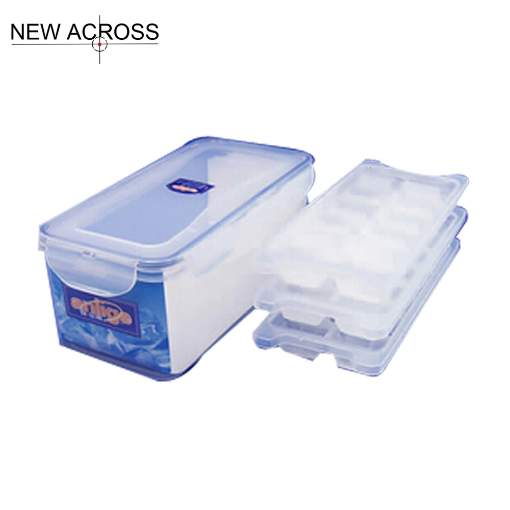 Gohide 1set Transparent Plastic Food 3.25l Shapes Ice Mold Ice Box Cover All Sealed Ice Tray Cooler Bag Ice Cream Makers(China (Mainland))