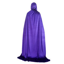 เด็กผู้ใหญ่สีดำ Hooded Vampire Robes Cloaks Cosplay ชุดแม่มดหมวก Death Gothic Heroic ผู้หญิงผู้ชายฮาโลวีน(China)