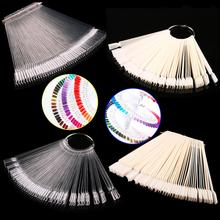 False Display Nail Art Fan Wheel Polish Practice Tip Sticks Nail Art 50pcs 100% Top Good(China (Mainland))